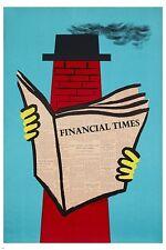 financial times NEWSPAPER vintage poster ERWIN FABIAN artist UNUSUAL 24X36
