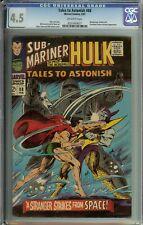 Tales To Astonish #88 CGC 4.5 Hulk & Sub-Mariner Namor