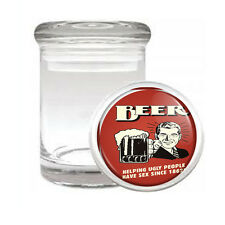 Vintage Bar Signs D4 ODORLESS AIR TIGHT MEDICAL GLASS JAR CONTAINER