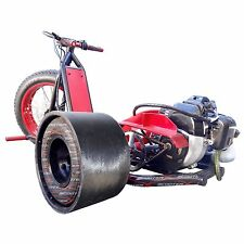 Red 49cc Gas ScooterX Mini Drifter Drift Trike Go Kart 30 mph Big 3 Wheel Steel