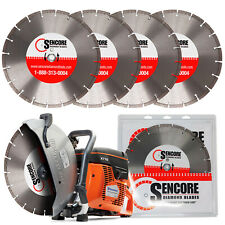 "Husqvarna New K770 14"" Concrete Cutoff Saw + 6 Diamond Blades + Free Shipping"