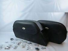 Saddlemen Cruis'n Jumbo Slant Saddlebag w/ Universal Mounting Hardware #245M NOS