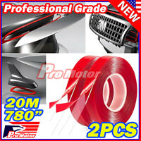 """780"""" 20M Double Sided Adhesive Sticky Mounting Tape Clear Car Auto Repair Cells"""