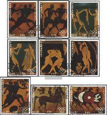 Paraguay 3239-3247 (edición completa) usado 1979 Atletas Olímpicos- pinturas