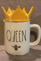 Rae Dunn Queen Bee Mug With Yellow Crown Topper
