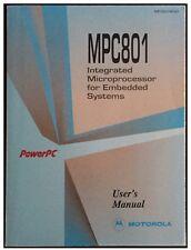 Motorola PowerPc Mpc801 User's Manual Data Book 1997