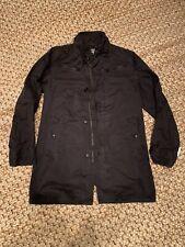 Mens G-Star Raw Fleet Garber Trench Coat / Jacket in Black - Size Medium