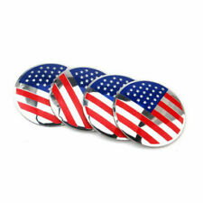 4x 56mm United States USA Flag Car Wheel Center Hub Caps Sticker Decal Emblem