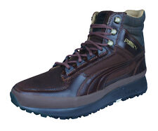 Puma Montapon Luxe Mens Leather Sneakers / Hi Top Sports Boots - Brown
