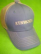 KENWORTH HAT:   SLATE BLUE / CREAM MESH BACK TRUCKER'S CAP * FREE SHIP IN USA *