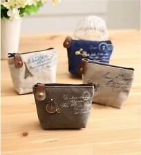 Women Small Canvas Zipper Wallet Coin Bag Wholesale Lot of 20 white Eiffel tower