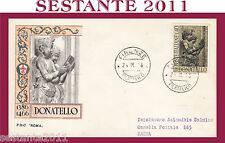 ITALIA FDC ROMA DONATELLO 1966 FIRENZE G54