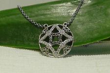 $150 NEW Judith Jack Sterling Silver 'Turq Matrix' Pendant Necklace.