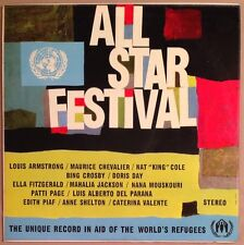 All-Star Festival U.N. Aid Of The World's Refugees, Near Mint LP Various Artists
