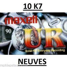 10 K7 CASSETTES AUDIO VIERGE 90 MN  MAXELL