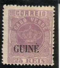 PORTUGUESE GUINEA CROWN 25 REIS (1885) Perf. 12,5 New Colours  MH