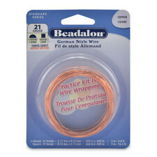 Beadalon® German Style Wire Practice Kit 21 Gauge/0.72mm Copper Color (8m)