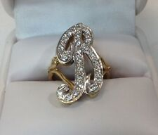 Diamond Letter Ring Either B Or R Ladies Ring (J279)