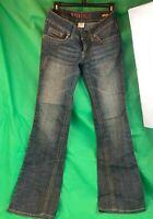 Hydraulic Super Low Metro Sz 7/8 Rhinestones Pockets Blue Jeans Boot cut