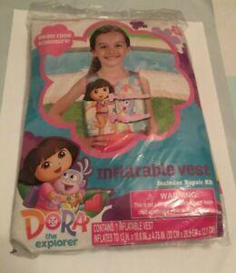 Brand New Dora the Explorer Inflatable Vest Kids Adjustable Pool Vest