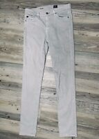 AG Adriano Goldschmied Women's The Prima Mid Rise Cigarette Jeans Gray Size 27R