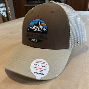 Patagonia Fitz Roy Scope Lopro Trucker Hat - New With Tags - Timber Brown - 2018
