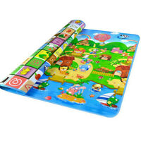Waterproof Floor Play Mat Rug Child Infant Baby Kid Crawling Game Mat Tw VSK