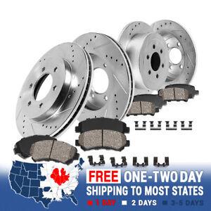 For Rainier Trailblazer 9-7X Front+Rear Drill Slot Brake Rotors & Ceramic Pads