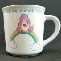 1983 Care Bears Love A Lot 8 oz Stonewear Coffee Mug Cup American Greetings VTG