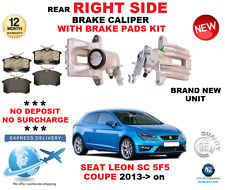 FOR SEAT LEON SC 5F5 COUPE 2013>on REAR RIGHT HAND SIDE BRAKE CALIPER WITH PADS