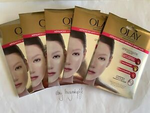 5x Olay Magnemasks Advanced Anti-Wrinkle Sheet Face Masks 24g Radiant BRAND NEW