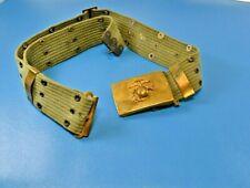 WWII U.S. Military USMC Marines Cartridge Belt with Insignia Brass Buckle