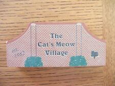 Cat's Meow Village Neighborhood Brick Entrance Sign Est. 1982 Retired