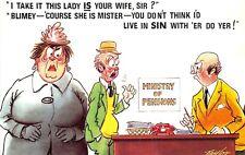 POSTCARD  COMIC   BAMFORTH   Husband  Wife  Living in  Sin