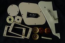 LP Custom Pickguard Back Cover Speed Knob Jack Plate Pickup Switch Ring Cream A