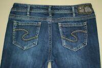 Silver Aiko Boot Cut Jeans Women's Size 32 Stretch Dark Wash Denim