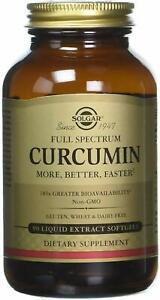 Full Spectrum Curcumin by Solgar, 90 softgels 1 pack