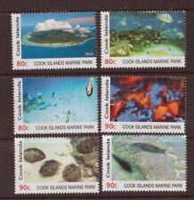 Cook îles Marine Parc MNH Lot de 6 timbres 2013 POISSON MOLLUSQUES #1430-5