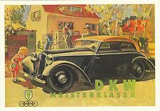 PHOTOGLOB  ZURICH  ADVERTISING  POSTCARD  -  CAR  -  DKW  MEISTERKLASSE