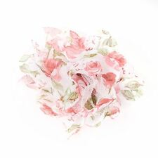 Decorative Fabric Flower Brooch Pin White/pink