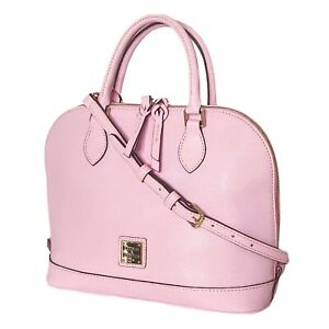NEW Dooney & Bourke Zip Zip Satchel Saffiano Leather Shoulder Bag Pink Handbag