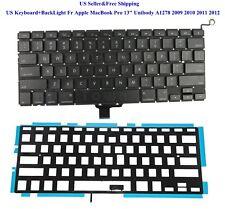 "US Keyboard+BackLight Fr Apple MacBook Pro 13"" Unibody A1278 2009 2010 2011 2012"