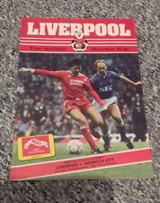 89) Liverpool v Norwich City programme division one 21-11-1987