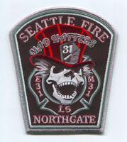 Seattle Fire Department Engine 31 Ladder 5 Medic 31 Patch Washington WA