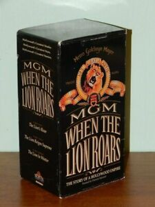 3 VHS box set MGM When the Lion Roars story of Hollywood Empire Patrick Stewart