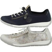 Rieker Shoes Black High Tech Glitter Effect Removable