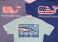 Lot of 3 Vineyard Vines T-Shirts Short Sleeve Pocket Whale Flag Fish Lobster XS