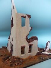 1/35 Scale Industrial ruin - Bombed Factory building - ceramic diorama kit