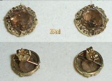 Ohrringe Stecker aus 585er Gold mit Rauchquarz  (da3588)