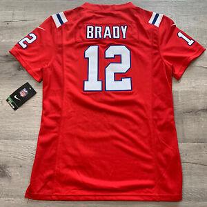 Tom Brady #12 New England Patriots Women's XL Alternate Red Jersey RARE XL